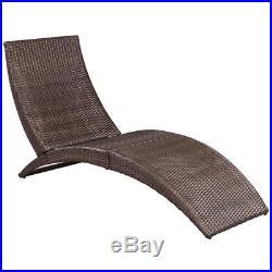 VidaXL Patio Sun Lounger Rattan Wicker Furniture Outdoor Pool Lounge Brown/Black