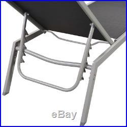 Vidaxl Patio Textilene 3 Piece Chaise Lounge Set With Cushions 2