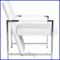 VidaXL Relax Armchair with Chrome Feet Artificial Leather Seat Black/White