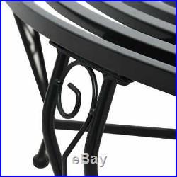 VidaXL Round Tree Bench Heavy Duty 63 Steel Circular Garden Outdoor Park Seat