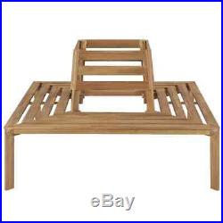 VidaXL Solid Acacia Wood Tree Bench 55.1 Patio Outdoor Seat Relaxer Furniture