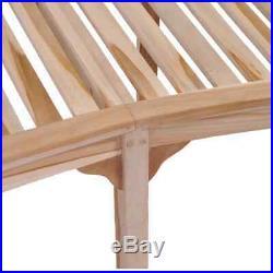 VidaXL Solid Teak Garden Bench Banana-shaped 78.7 Patio Chair Seat Furniture