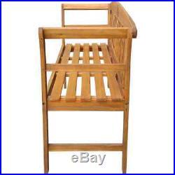 VidaXL Solid Wood Garden Bench 61.8 3 Seater Patio Outdoor Chair Seating