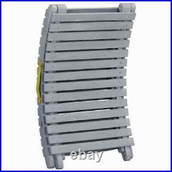 VidaXL Wash Solid Acacia Wood Sun Lounger Grey Outdoor Chaise Lounge Chair
