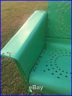 Vintage 3 Seat Metal Glider