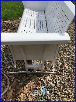 Vintage BUNTING Metal 3 Seat Porch Glider Works Solid