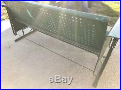 Vintage Metal Front Porch Glider Swing and 2 Chairs Set