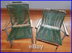 Vintage Mid Century Telescope 7 Piece Set Lawn Chair Chaise Lounge Patio