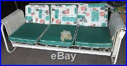 Vintage Modern MID Century Glider Couch Sofa Swing