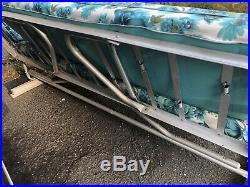 Vintage Retro Aluminum Vinyl 1950s Patio Glider Sofa