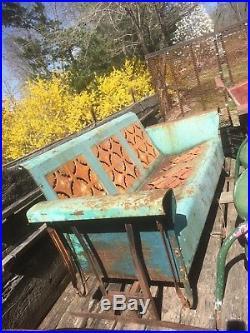 Vintage Retro Metal 5ft Lawn Glider Rocker Chair Garden Mid Century 1940s 50s