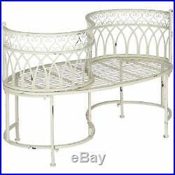 Vintage Victorian Kissing Bench Tete-a-Tete Garden Love Seat Antique White