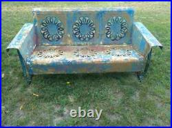 Vintage metal porch glider Wedding ring pattern Local pick up only