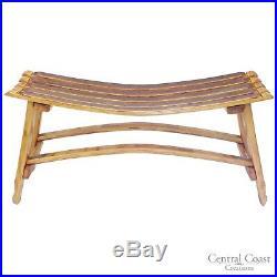 WINE BARREL Small Garden Bench Patio Outdoor Furniture Home Decor Rustic Napa