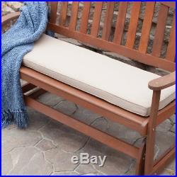 Wood Glider Bench Outdoor Patio Furniture Garden Deck Rocker Porch Loveseat New