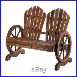 Wood wooden WAGON WHEEL park patio furniture BENCH ADIRONDACK chair country Yard