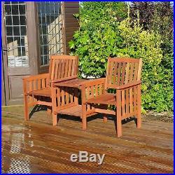 Wooden Companion Set Hardwood Garden Bench Table Love Seat Jack & Jill Corner