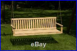 Wooden Outdoor Swing Porch Hanging Seat Bench Patio Chair Garden Deck Furniture