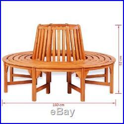 Wooden Tree Surround Garden Furniture Outdoor Bench Circular Wrap Around Seating