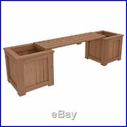 Yardistry Cedar Bench Planter, 2 Planter Boxes for Beautiful Flowers