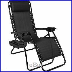 Zero Gravity 2 X Reclining Garden Chairs Folding Sun Loungers Camping Chair Uk