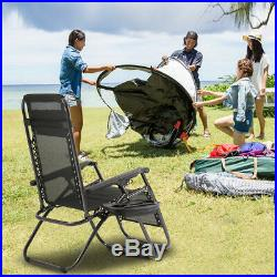 Zero Gravity Chairs Set of 2 Patio Adjustable Reclining Folding Chairs with Pillow